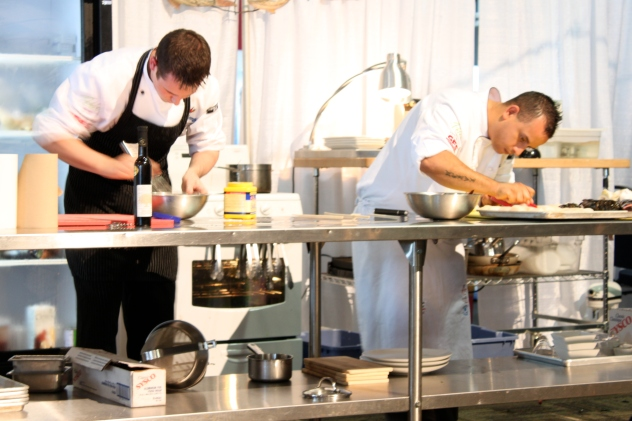 Chef Luis Clavel at Chef Competition
